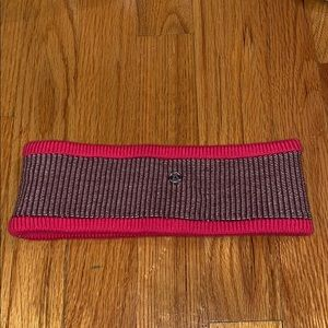 Lululemon pink and multi colored winter ear band